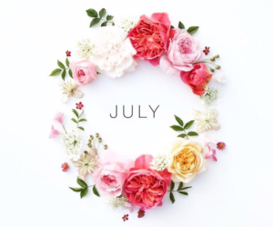 colors, flowers, and july image