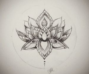 ink, girl ink, and lotus image