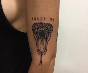 tattoo, snake, and trust image