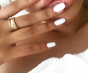 summer and white nails image