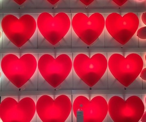 red, hearts, and aesthetic image