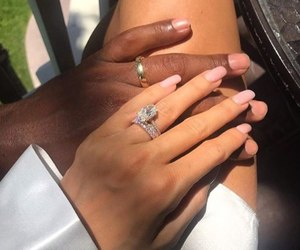 couple, diamond, and love image