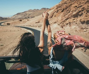 friends, girls, and journey image