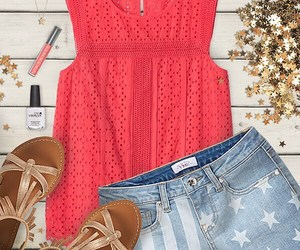 4th of july, shorts, and coral image