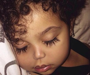baby, eyelashes, and beauty image