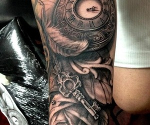 clock and tattoo image