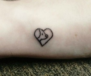 dog, tattoo, and mini image