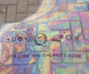 colors, galaxy, and lips image