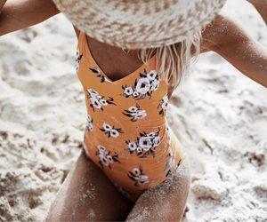 amazing, orange, and beach image