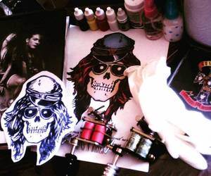 axl rose, inked, and tattoo image