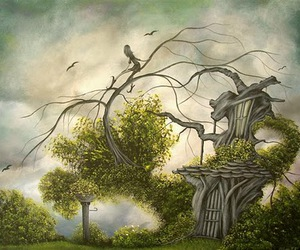 birds, crows, and fairy tale image