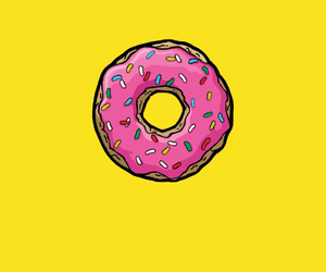 homer simpson, dona, and donut image
