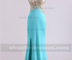 long prom dresses, lace prom dresses, and prom dresses with slit image