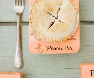 food, peach pie, and pie image