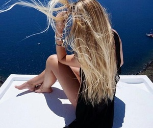blonde, blue, and stylé image