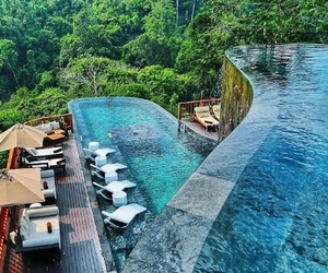luxury, pool, and nature image