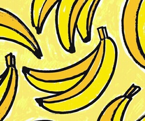 wallpaper, yellow, and banana image