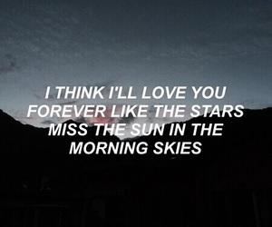 quote, sky, and Lyrics image