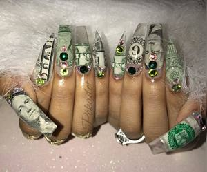 money, nails, and stones image