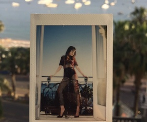 lily collins and polaroid image