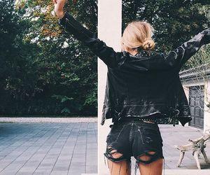 black, clothing, and jacket image