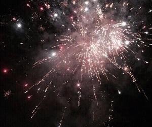 fireworks, pink, and dark image