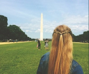 hair, travel, and washington image