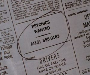 aesthetic, newspaper, and psychics image