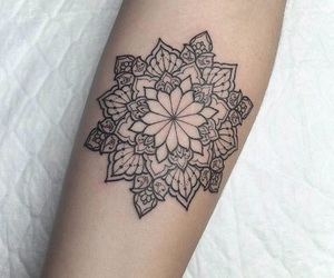 arm, black, and mandala image