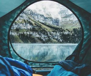 camping, nature, and lake image