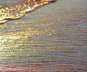 beach, rainbow, and sea image