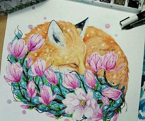 cool, girl, and watercolor image
