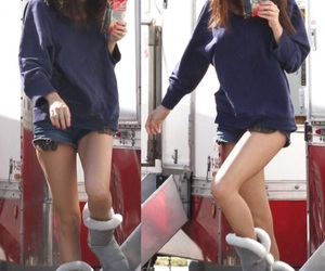 selena gomez, ugg boots, and style image