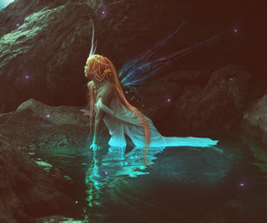 fairy, fantasy, and red head image
