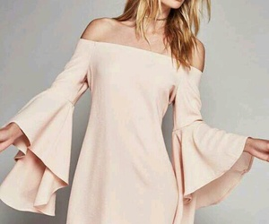 dress, pink, and off-shoulder image