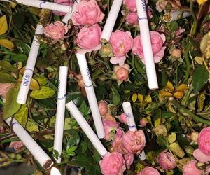 flowers, cigarette, and alternative image