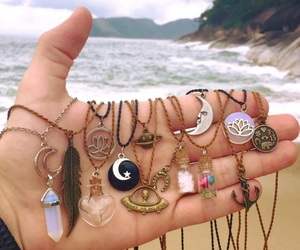 necklace, beach, and accessories image
