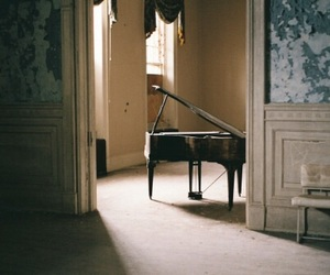piano, vintage, and grunge image