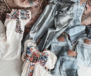 bohemian, denim, and fashion image