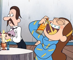 crazy, mabel, and gravity falls image