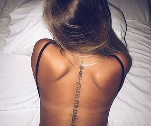 back, summer, and tattoo image
