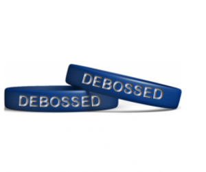 silicone wristbands and debossed wristband image