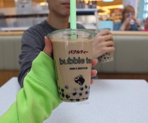 bubble tea, drink, and quality image