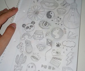 draw, journal, and drawing image