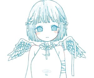 angel, watercolor, and anime image