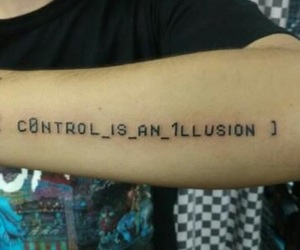 control, tatto, and Tattoos image
