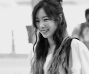 airport, black and white, and girls generation image