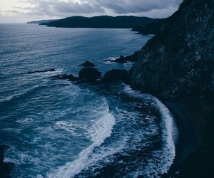 blue, dark, and ocean image