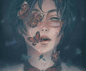 butterfly, art, and anime image