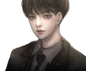 anime, boy, and draw image